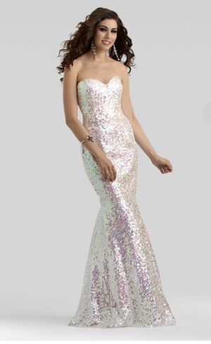 Clarisse Strapless Sequin Mermaid Dress Size 0 for Sale in Chapel Hill, NC
