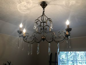 Dining Room Chandelier (Bronze Color Metal) for Sale in Lutz, FL