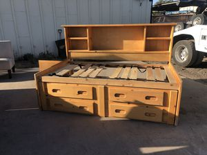 Twin size wood captain's bed frame for Sale in Tempe, AZ