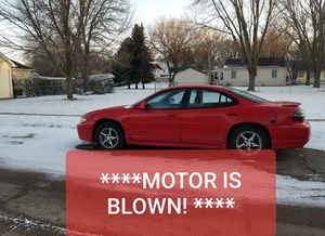 98 Grand Prix GT V6 3.8 Clean Title ***MOTOR IS BLOWN*** SELLING AS IS Asking $600 for Sale in Sioux City, IA