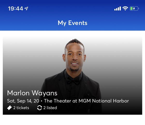 Marlon Wayans Tickets MGM National Harbor