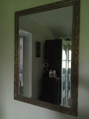 Gold/ brass wall mirror for Sale in Aloma, FL