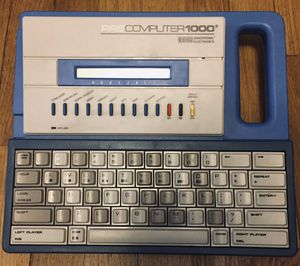 VINTAGE VTech PRE COMPUTER 1000 EDUCATIONAL LEARNING SYSTEM WITH COURSE BOOK for Sale in Metuchen, NJ