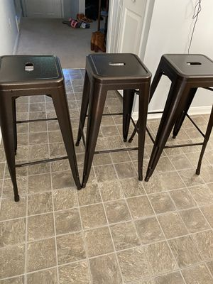 3 matching Bar stools for Sale in Manassas, VA