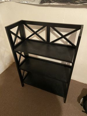 Black foldable bookcase for Sale in Bethesda, MD