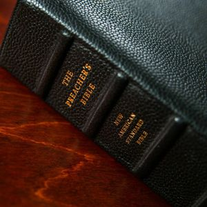 NEW - NASB Preacher's Bible (first edition) - Black goatskin leather for Sale in Garden Grove, CA