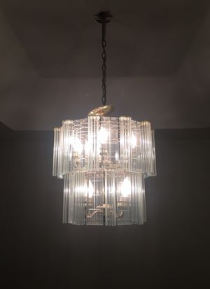 Elegant Crystal and Gold Chandelier and light bulbs fixture for Sale in Beverly Hills, CA