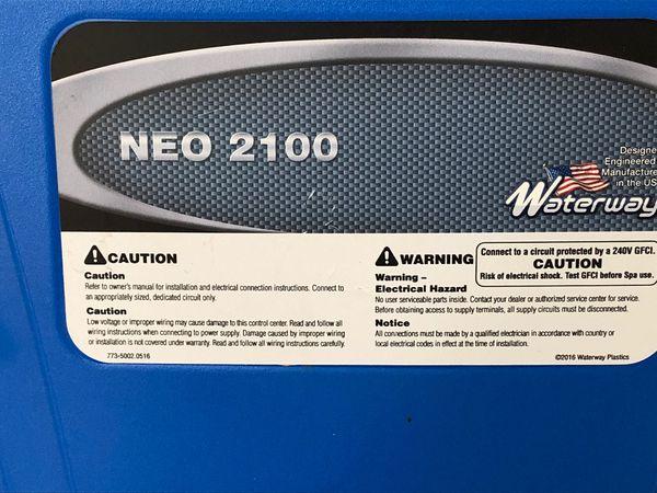 Hot tub control panel. Neo 2100