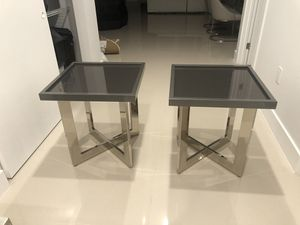 Grey side tables for Sale in Pompano Beach, FL