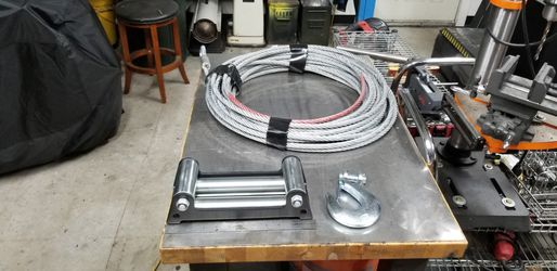 "100' Steel 1/2"" 30k Rated Winch Cable/fairlead/hook for Sale in Scappoose,  OR"