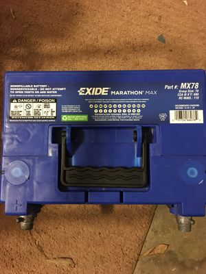 EXIDE MX78 AGM car battery for Sale in Fresno, CA