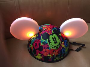 Light up Mickey Ears hat glow with the show for Sale in Corona, CA