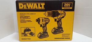 DEWALT 2-Tool 20-Volt Max Brushless Power Tool Combo Kit with Soft Case (Charger Included and 2-Batteries Included)brand new nuevo for Sale in San Bernardino, CA