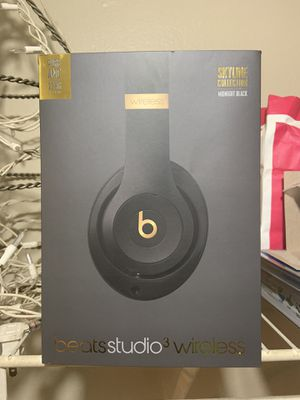Beats Studio 3 Wireless Midnight Black for Sale in Katy, TX