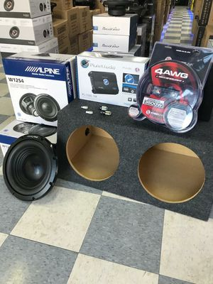 ALPINE CAR AUDIO SUBWOOFER AMP BOX WIRES SPECAIL for Sale in Dallas, TX