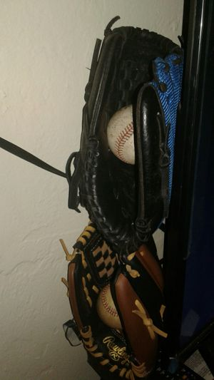 Two left hand baseball gloves for Sale in Oklahoma City, OK