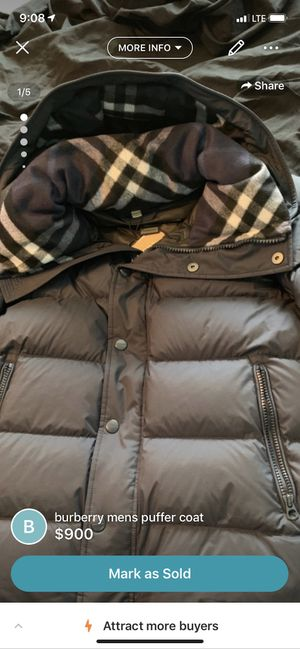Brand new never worn Burberry puffer men's coat 2019 winter edition sleeves can detach for Sale in Washington, DC
