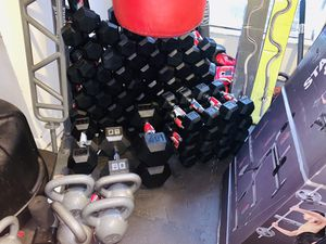 10 lb hex rubberized dumbbells set for Sale in Davie, FL