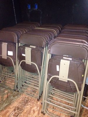 300 fold up banquet hall chairs available for Sale in Caledonia, MI