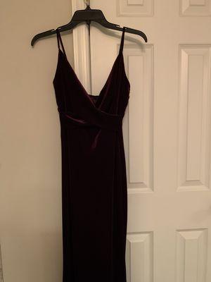 Dark purple velvet dress for Sale in Nokesville, VA