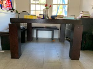 Solid Wooden kitchen table with 2 benches for Sale in North Hollywood, CA