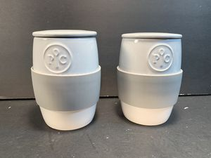 "PAMPERED CHEF White/Gray Ceramic Egg Cookers (Height: 5-1/4"") for Sale in Dade City, FL"