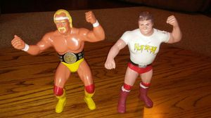 Vintage 1984 WWF Hulk Hogan and Rowdy Roddy Piper 8 inch action figures for Sale in Rock Hill, SC