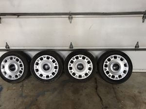 Fiat steel wheels with tires and hub caps. 185/55r15 for Sale in Palos Hills, IL