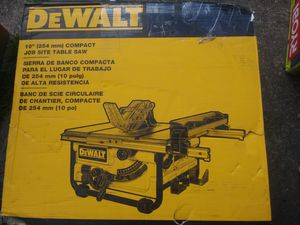 10 inch dewalt table saw brand new for Sale in Pittsburgh, PA