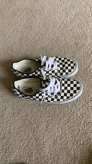 checkerboard vans size 9.5 worn 5x for Sale in Blacklick, OH