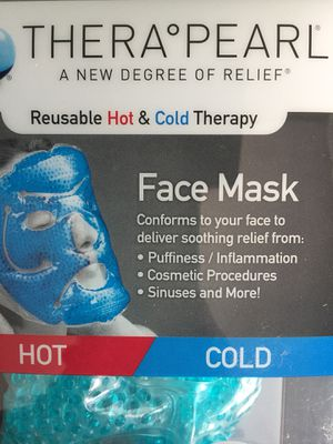 *NEW* Thera Pearl Reusable Hot & Cold Face Mask with Gel Beads. for Sale in Chula Vista, CA