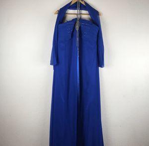 Plus Size Blue Rhinestone Halter Formal Gown Dress Size 20 for Sale in El Cajon, CA