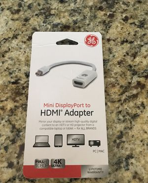 NEW GE Mini DisplayPort to HDMI Adapter for Sale in Chula Vista, CA