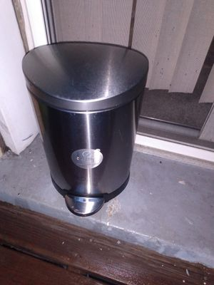 Small stainless steel 13 inch trash can for Sale in Alexandria, VA