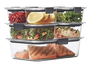 Rubbermaid Brilliance Leak-Proof Food Storage Containers with Airtight Lids, Set of 7 (14 Pieces) for Sale in Cambridge, MA