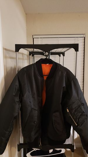 Classic MA-1 nylon flight jacket medium size for Sale in Vero Beach, FL