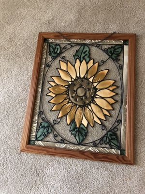 Vintage Plastic Art on Glass Framed. 23 inches tall by 18 inches wide. for Sale in Raleigh, NC