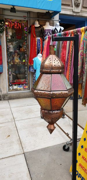 Multicolored Glass Metal Moroccan lamp for Sale in Washington, DC