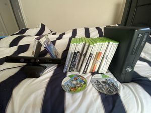 Xbox 360 S & Kinect & 20 Games with 2 controllers for Sale in Braintree, MA