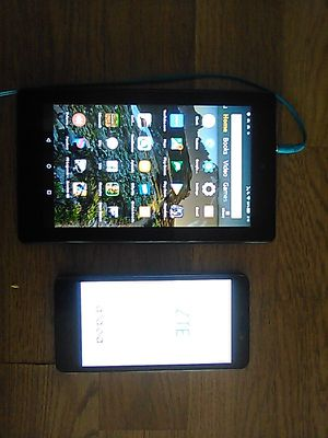 Amazon fire 7 tablet an ZTE N9132 for Sale in North Las Vegas, NV