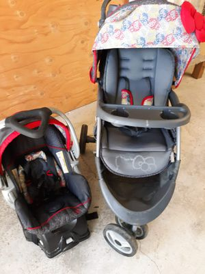 Hello Kitty Stroller & Car Seat! for Sale in Crestline, CA