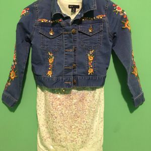 Gap Girl Dress / Jeans Jacket for Sale in Chicago, IL