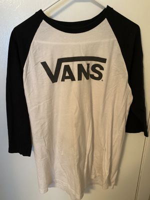 Van's Baseball Tee 3/4 Sleeve Men's Medium for Sale in Austin, TX