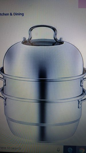 XL Stainless Steel 3 layer steamer cooking pot rice cooker soup stew pan for Sale in Victorville, CA