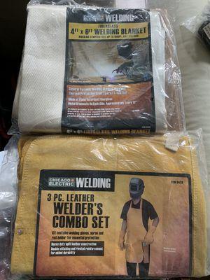 Brand New! Leather Welding Apron & Fiberglass Welding Blanket for Sale in Dracut, MA