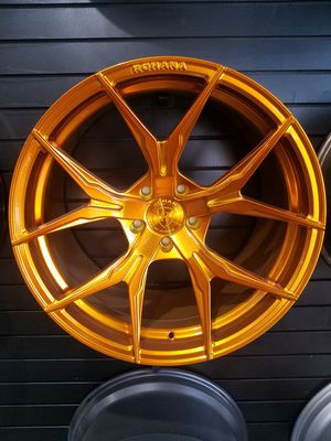 "PRICE PER WHEEL Gloss Gold Rohana RFX5 rim available in 19"" and 20"" Gold or Black for Sale in Tempe, AZ"