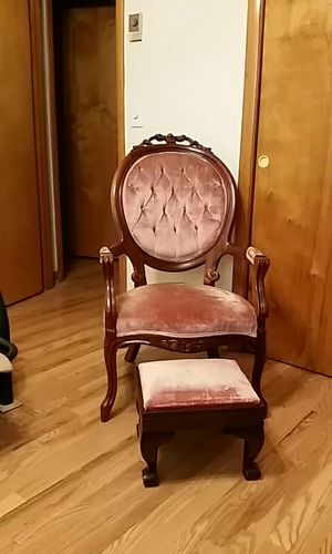 Antique chair with stool Made By KIMBALL Furniture made 1975 for Sale in Nashville, TN