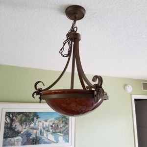 "15"" glass pendant chandelier with chain for Sale in Seminole, FL"
