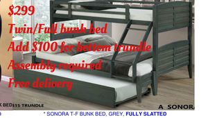 Twin/full bunk bed. Assembly required. Free delivery for Sale in Long Beach, CA