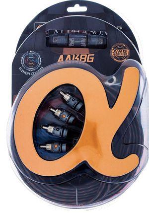 Alphasonik AAK8G Premium 8-Gauge Complete Car Amplifier Installation Kit Hyper-Flex Power, Ground, Speaker Wire RCA Cable - Exceeds AWG for Sale in Hawthorne, CA